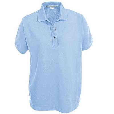 Port Authority L500 Ladies Silk Touch Light Blue Knit Polo Shirt