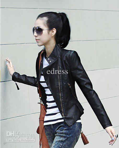 Fashion For Ladies Biker Leather Jackets