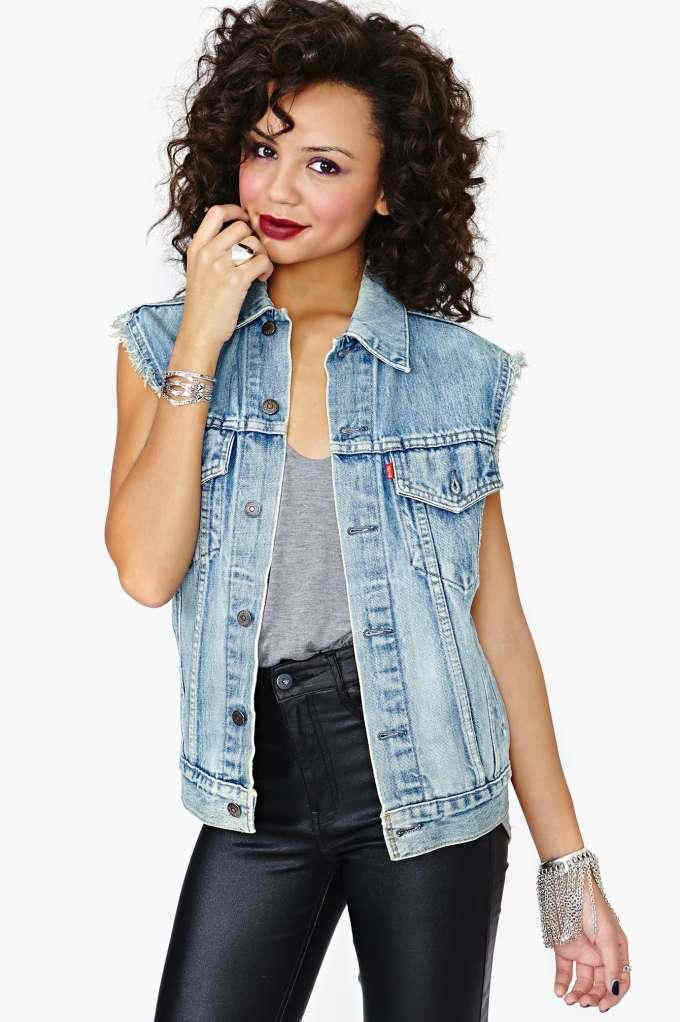 Levis Denim Vest   Summer Sun