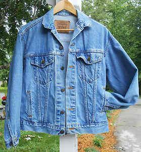 Levi Strauss Vintage Denim Jean Jacket Chambray Size Large 16 18