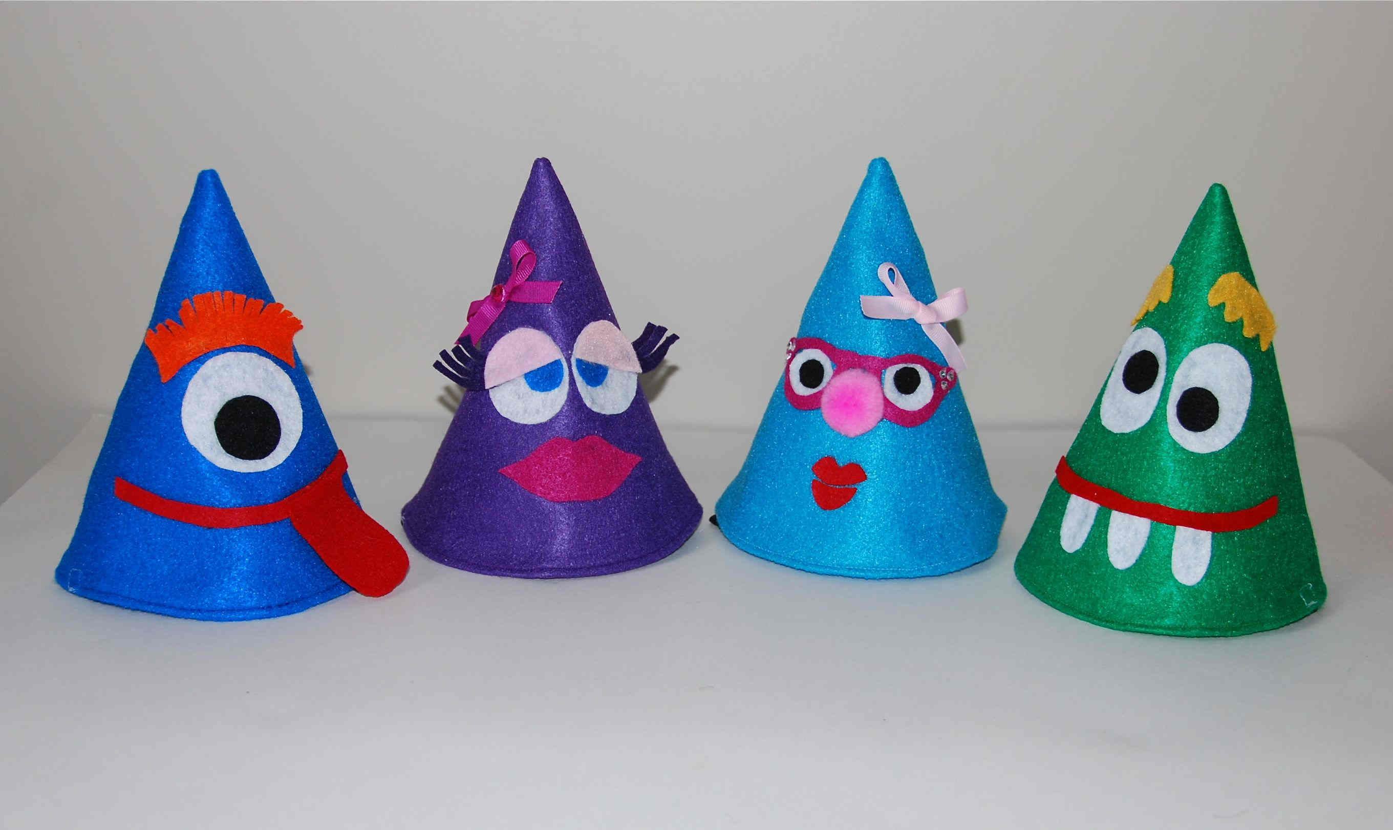 New Years Eve Party Hats For Little People  Felt So Cute