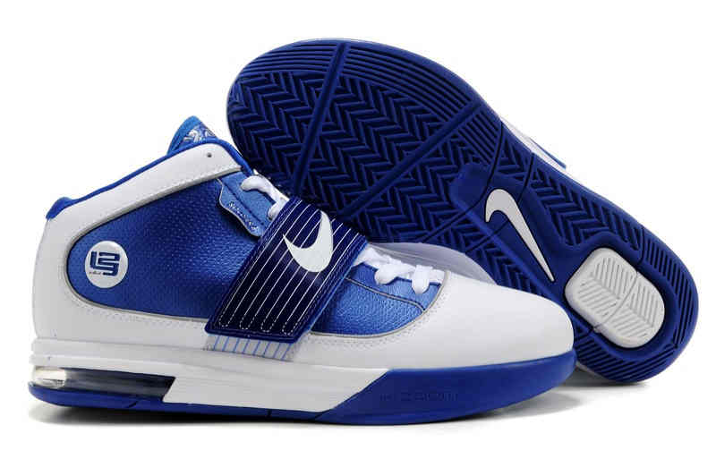 Nike Zoom Soldier IV Blue White Basketball Shoes 407630 103   NIKE