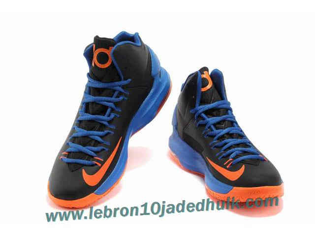Buy Real Nike Zoom KD V 5 Black Blue Orange Basketball Shoes Shoes