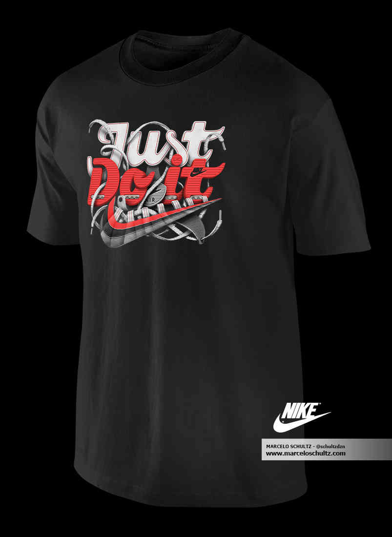 Nike Just Do It  Comissioned Artwork  T Shirt Design    Design You