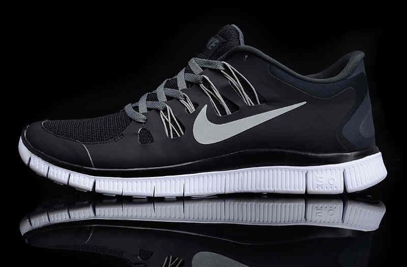 Nike Free 50 Mens Running Shoes For Sale BlackWhite 2013 Nike