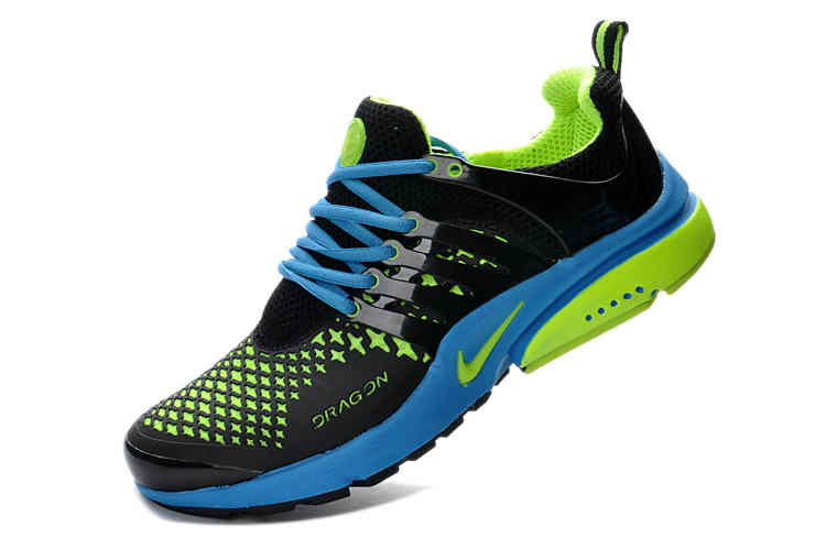 Top Design Nike Air Presto 2013 Men Blue Green Running Shoes  Nike