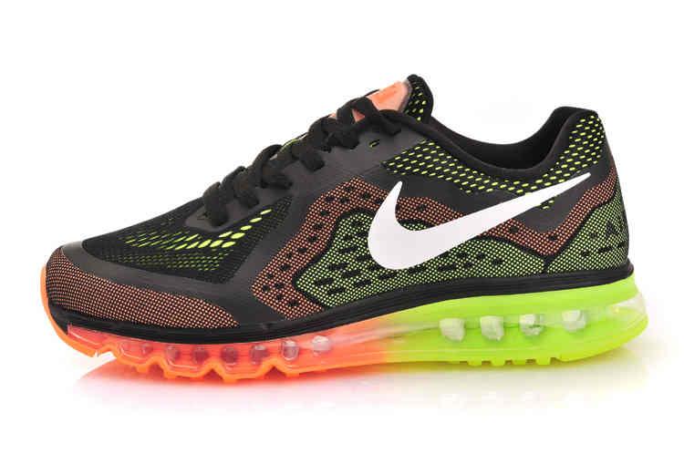 Fashion Nike Max 2014 Men Blue Green Orange Running Shoes  Nike