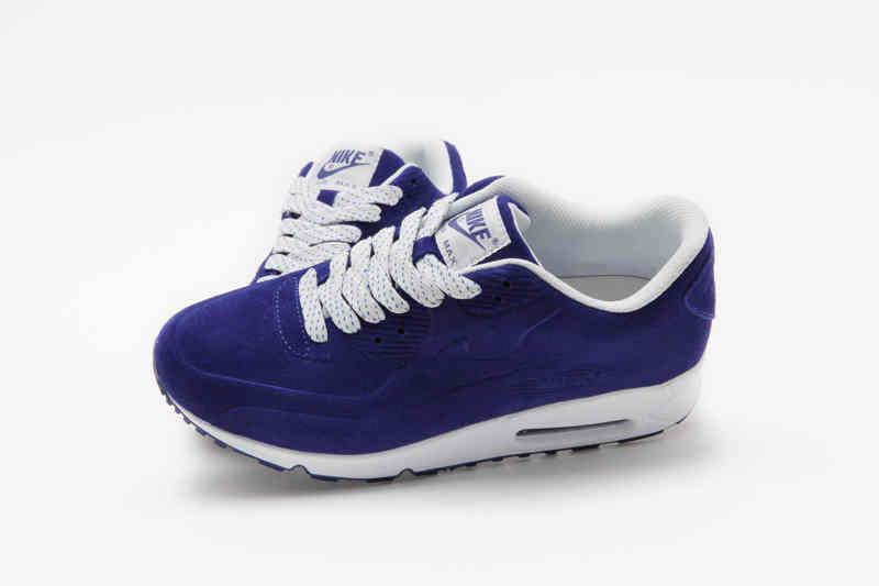 Hot Nike Air Max 90 VT Men Running Shoes Blue White   Buy Nike Air