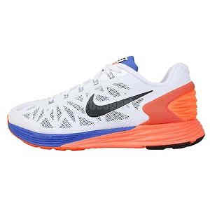 Nike Lunarglide 6 GS VI White Orange Blue Youth Girls Boys Jogging
