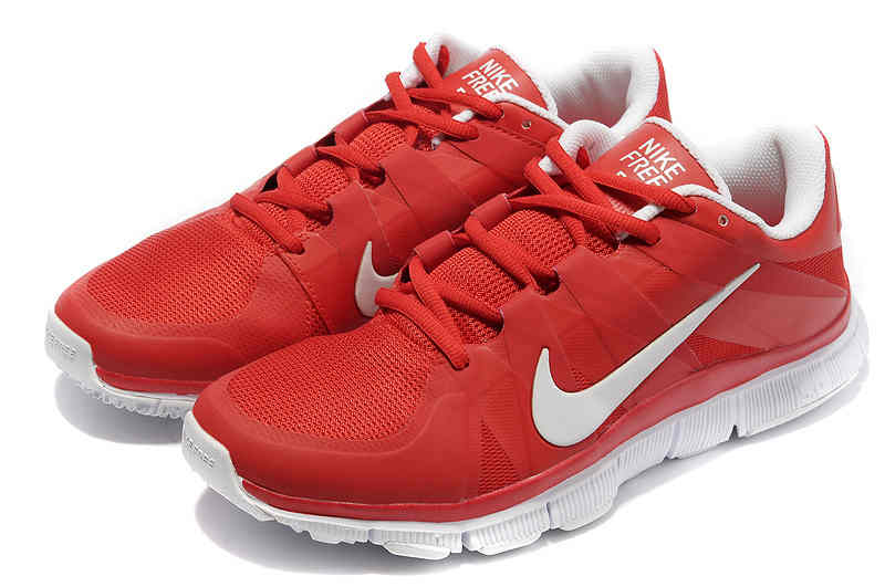 Top Design Nike Free 50 Men Red White Running Shoes  HSNISL004