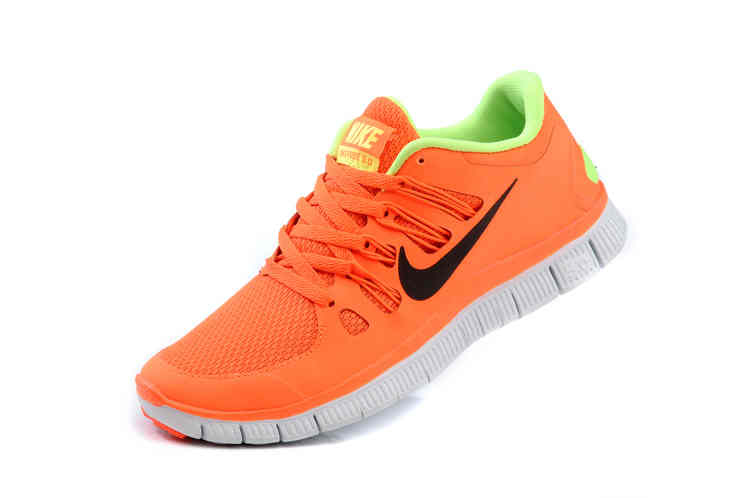 Cheap Nike Free 50  Womens Orange Fluorescence Green Running