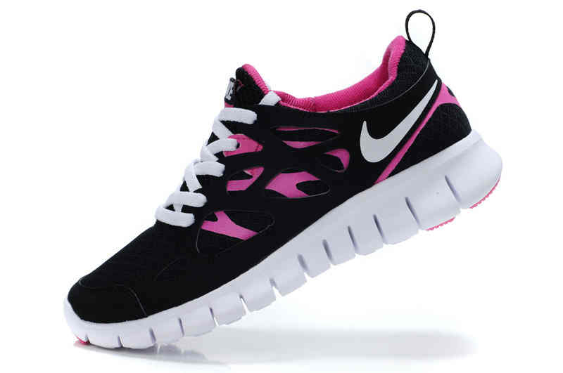 Cheap Nike Free Run 2 Womens Black Pink Running Shoes    5299