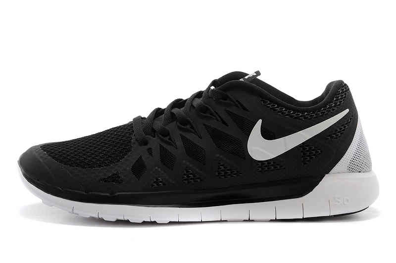 Nike Free 50 2014 Womens Running Shoes   Black White    7199