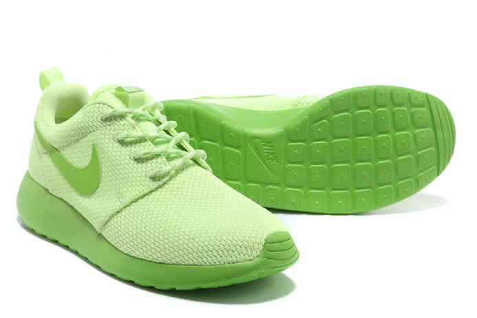Nike Roshe Run Womens Shoes Breathable For Summer Green