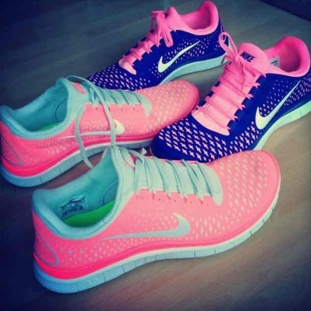 Shoes  Nike Free Run Pink Blue Mibt Mint Comfortable