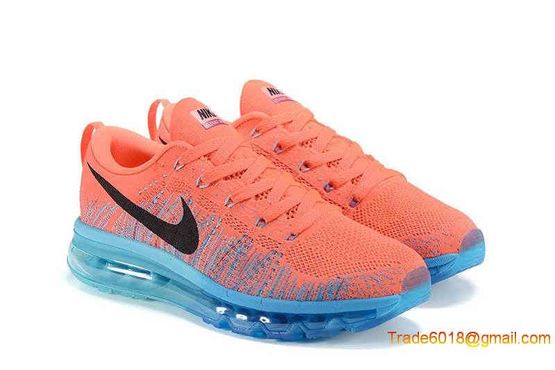 Nike Flyknit Air Max 2014 Mens Running Shoes   Pinkblueblack