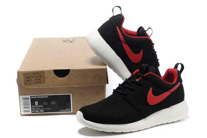 Nike Roshe Run Mens Shoes Breathable Black Red