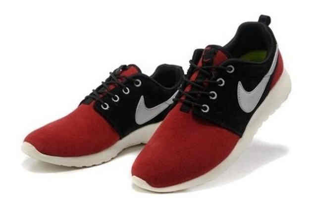 Hot Sell Online Popular Nike Roshe Run Womens Shoes Red Black White