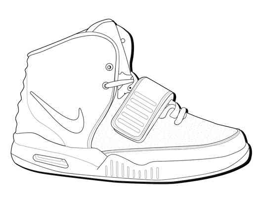 Gallery For Blank Sneaker Outline