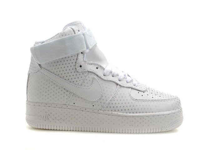 White Spot Women Nike Air Force 1 High Top   Nike High Tops For