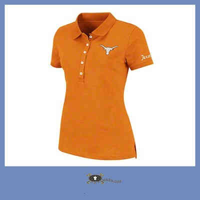 Embroidered Logo Orange Polo Shirt For Girls Promotional Bulk