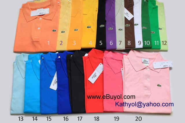 Lacoste Solid Color Short Sleeve Polo Shirts  9  15 Each Lacoste