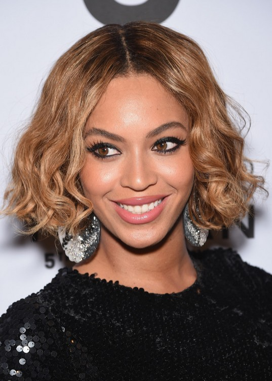 beyonce knowles african american curled out bob