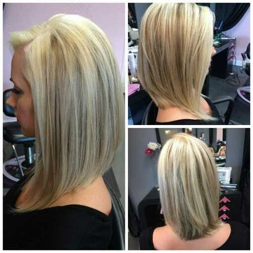 inverted long bob hairstyle for women