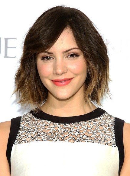 katharine mcphee short ombre hairstyles 2014