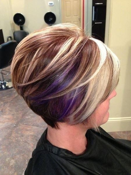 layered stacked bob haircut for women
