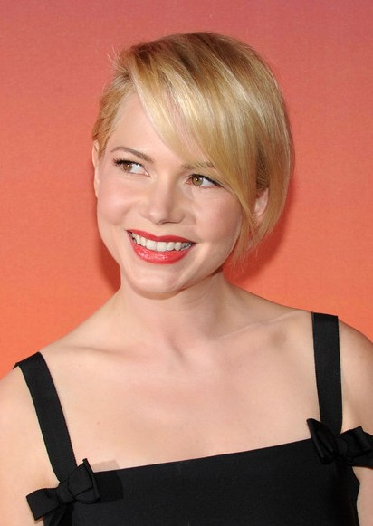 michelle williams short hairstyle 2014