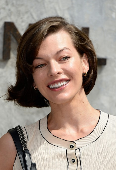 milla jovovich short haircut for 2014