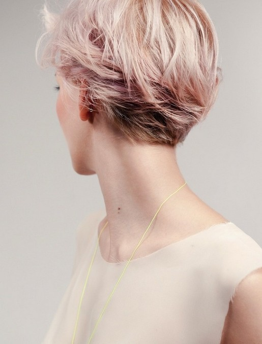 pink short hairstyle 20141