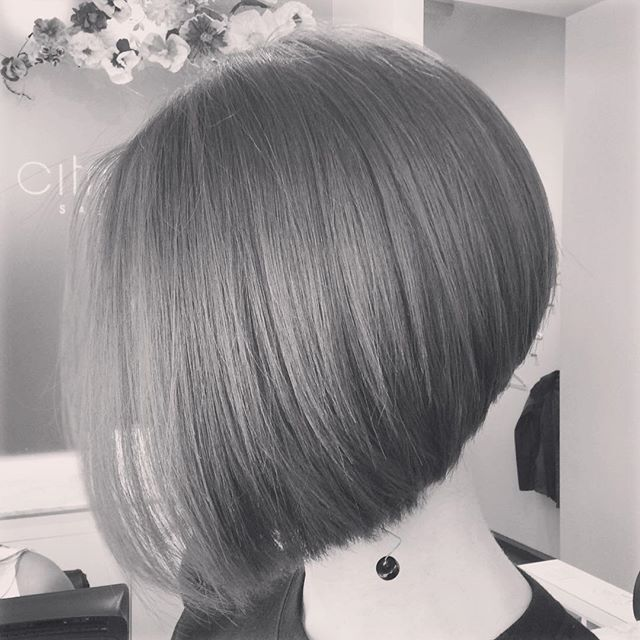 short round inverted bob hairstyle