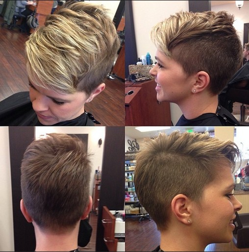 trendy short haircut for young ladies